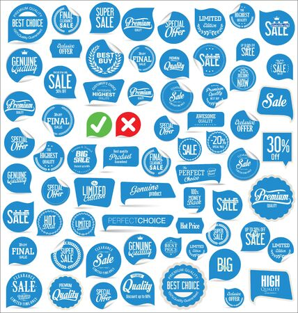 sale tags: Sale stickers and tags collection