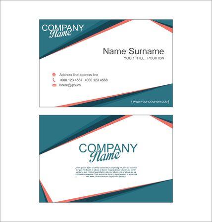 modern business: Modern simple business card template