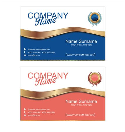 business card template: Modern simple business card template