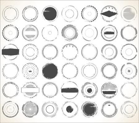 grunge rubber stamp: Empty grunge rubber stamp collection