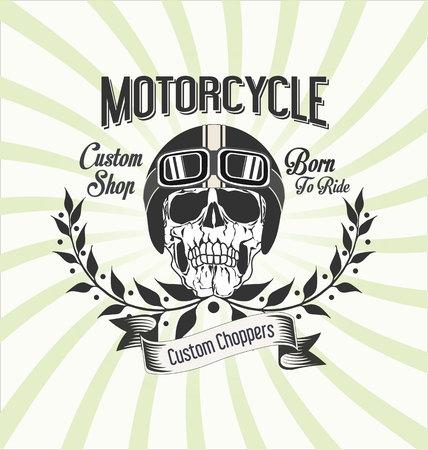 custom: Vintage motorcycle retro  background Illustration