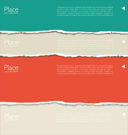 Fond de papier déchiré avec espace pour le texte Vecteurs