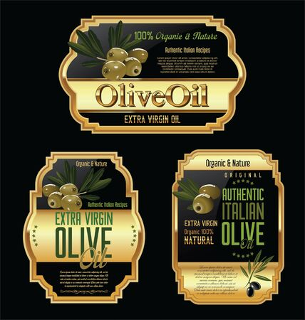 substitute: Olive oil labels and design elements