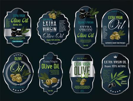 L'huile d'olive rétro collection vintage de fond