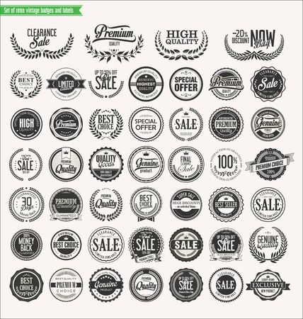 satisfaction: Premium quality retro badges collection