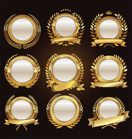 wreath collection: Golden medallion with laurel wreath collection