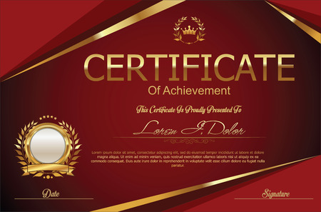 Certificate or diploma template Vektorové ilustrace