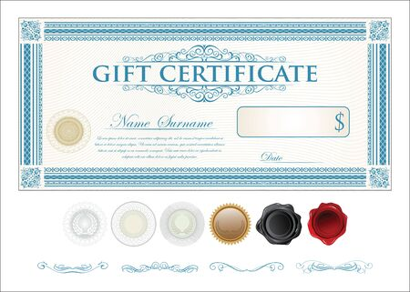Gift Certificate Retro Vintage Template Royalty Free Cliparts