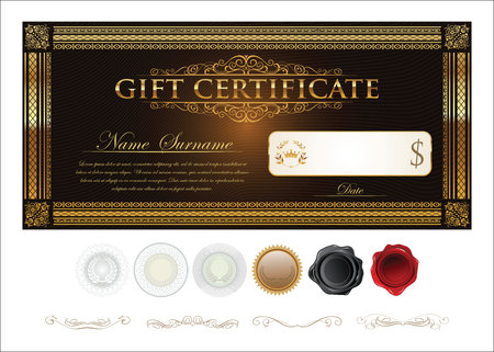 Gift certificate retro vintage template
