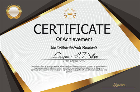 Modern certificate or diploma template Ilustracja