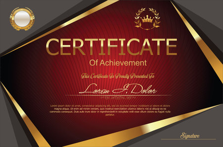 fondo elegante: certificado o modelo del diploma moderna