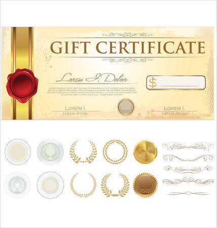 grandeur: Vector Premium Gift Certificate Template Illustration