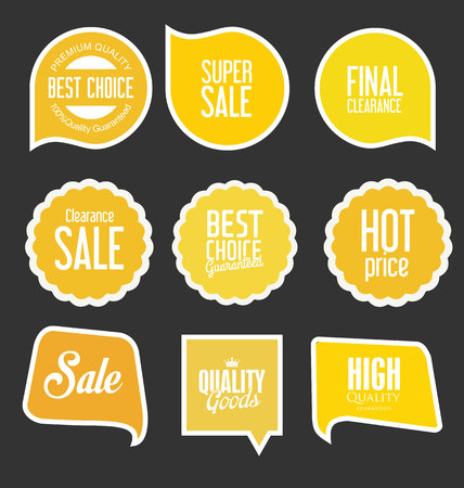 sale tags: Modern sale stickers and tags collection vector