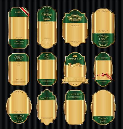 commitments: Golden sale labels retro vintage design collection