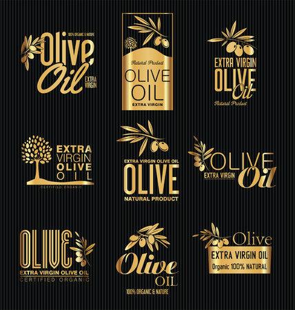 Olive oil retro vintage labels collection