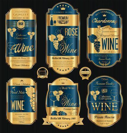 gilt: Luxury golden wine labels collection Illustration