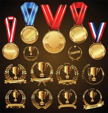colección de vectores Premios y trofeos