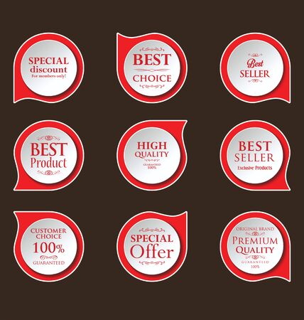 price tag: Modern badges colorful collection
