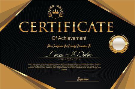 Modern certificate or diploma template Ilustração