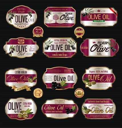 substitute: Olive oil retro vintage background collection Illustration