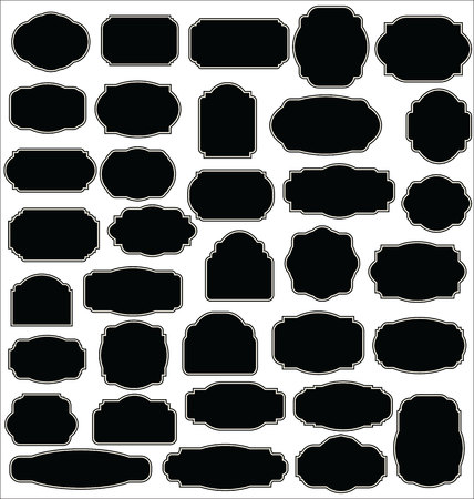 label frame: Blank frame and label collection Illustration