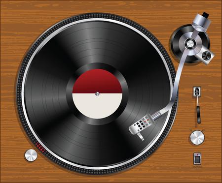 Ancien joueur de vinyle gramophone record du jeu