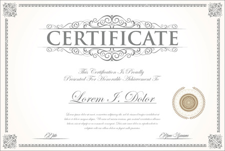 elegant template: Elegant certificate or diploma template