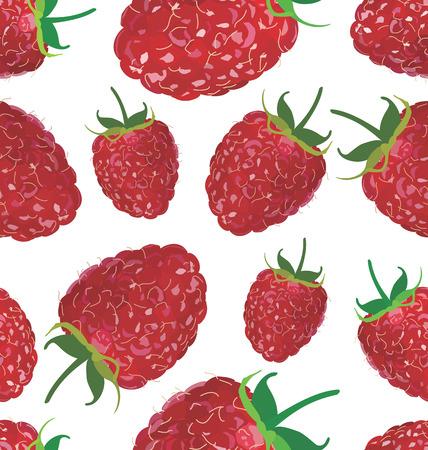 raspberry: Seamless background with raspberry