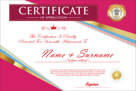 certificate template retro design royalty free cliparts vectors
