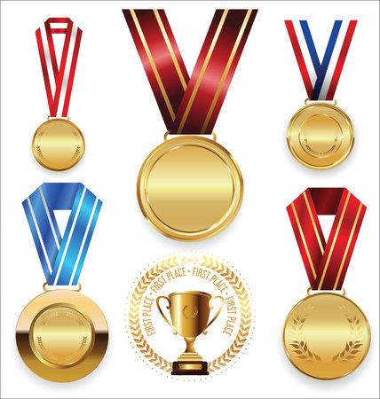primer lugar: colección de vectores Premios y trofeos