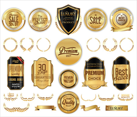 satisfaction: Luxury retro badge and labels collection