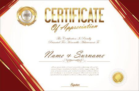 stock certificate: Certificate template retro design