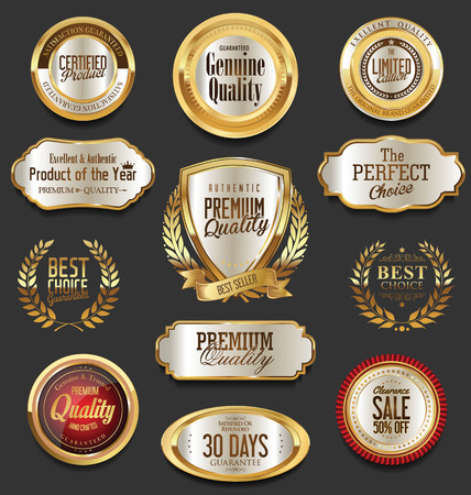 Set of retro vintage badges and labels collection Stok Fotoğraf - 73906564