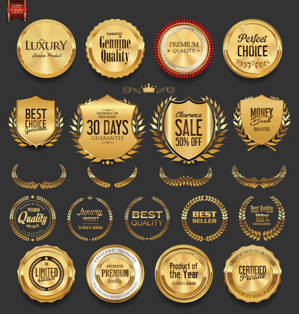 Set of retro vintage badges and labels collection Stock Vector - 74276349