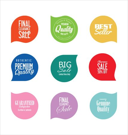 Sale stickers and tags collection