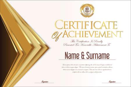 brown: Certificate retro design template Illustration