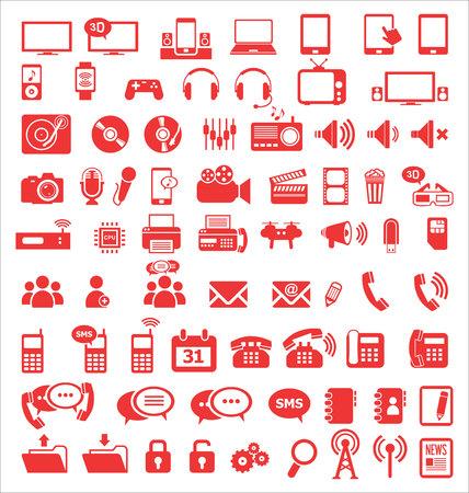 techology: Media and communication icons Illustration