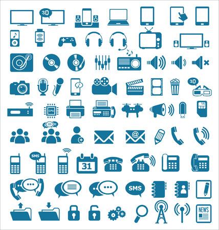 adress: Media and communication icons Illustration