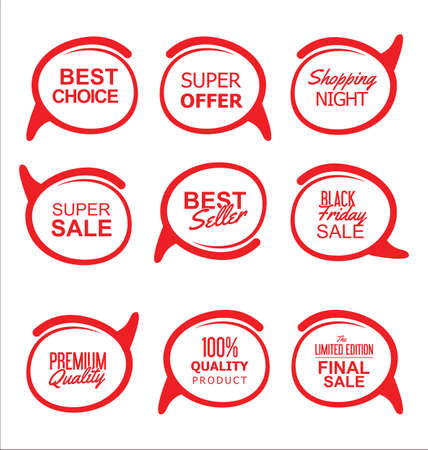 business sign: Modern sale stickers collection