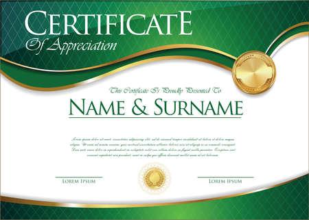 gold: Certificate collection retro design