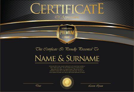 stock certificate: Certificate collection retro design
