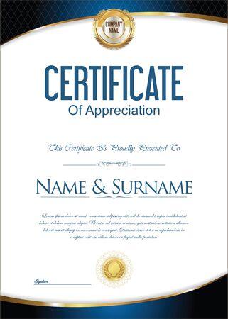 stock certificate: Certificate or diploma template