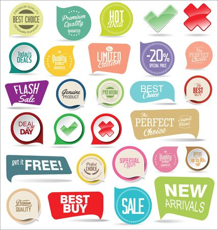 forme: Modern badges colorful collection
