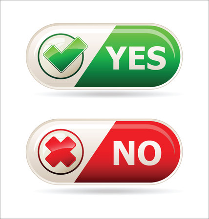 denied: Yes and no sign of product quality and choice Illustration