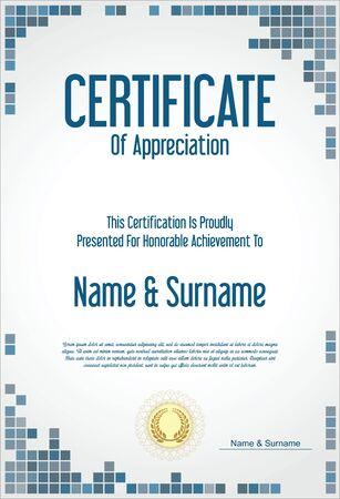 stock certificate: Certificate or diploma retro template