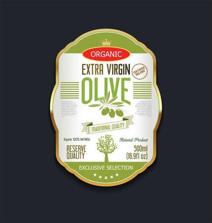 substitute: Olive oil retro vintage background Illustration