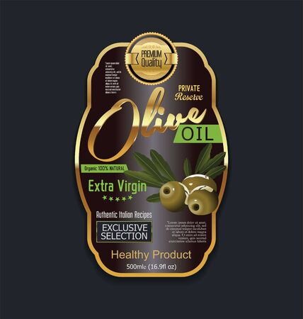 additional: Olive oil retro vintage background Illustration