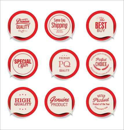 quality guarantee: Modern badges and labels collection