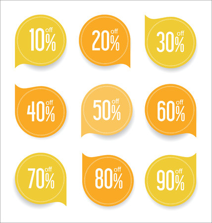 Modern offer sale tag isolated vector illustration collection Illustration