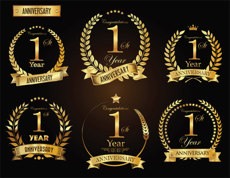 Anniversary golden laurel wreath